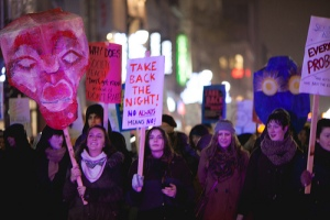 Take Back the Night march led by Concordia University in Montreal. Photo by Thien V.